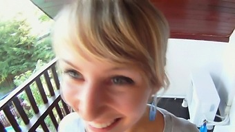 Boner loving lovely blonde maid Alice Marshall got banged