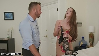 American slut in lacy lingerie Whitney Westgate is so into riding fat cock
