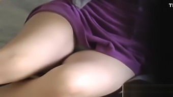 Watched asian babe rubs