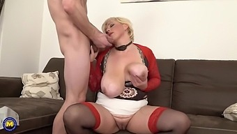 Mother with perfect tits gets taboo sex