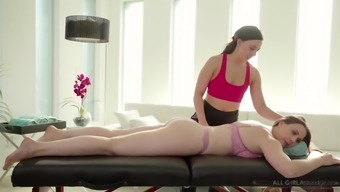 Chanel Preston and Whitney Wright in sensual lesbian pussy massage