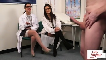 CFNM voyeur doctors giving JOI at the office