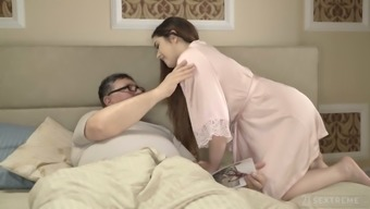 Spanish pale natural GF Diana Rius rides older man's strong cock