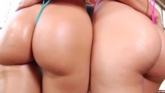 Beautiful striptease from Anikka Albrite, Dani Daniels & Karlie Montana