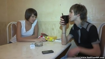 Ludmila gets her teen pussy slammed in her BF's eyes
