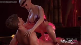 Hot hentai female vampire sucking big cock