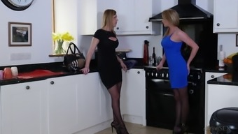 Hot blonde face fucked by a fat cock before riding it rough in pov