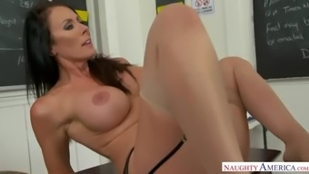 Milfy teacher reagan foxx shows a virgin how to not be one