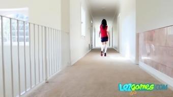 Schoolgirl caught masturbating open her LESBIAN PUSSY