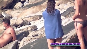 Amateur Beach Voyeur Nudist Hidden Camera Video