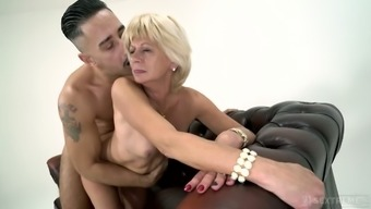 Bent over wrinkled mature slut Diane Sheperd deserves some tough doggy