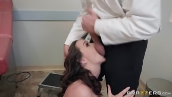 Curvy MILF Chanel Preston fucked by her doctor at his office