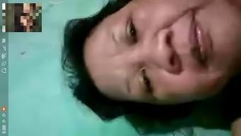 Indonesian video call bersama mami iroh bbw stw chubby