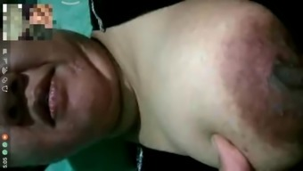 Indonesian video call bersama mami iroh bbw stw chubby