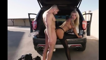 beautiful aubrey kate fuck in car
