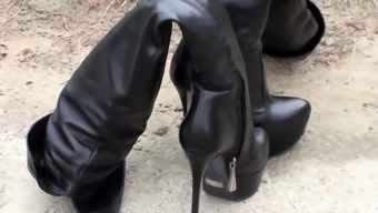 Platform leather Thigh boots designer- Andrea Cancelieri