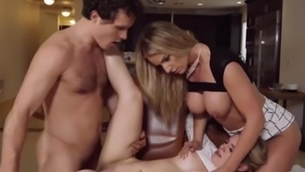 Reality Kings - StepMom catches daughter sucking big cock under the table