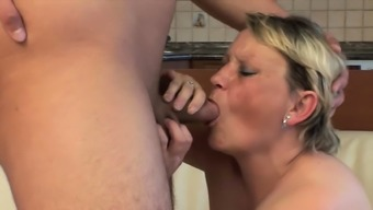 MomsWithBoys - Shy type Granny Having Sex With Younger Cock