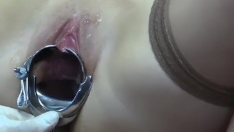 fetish porn video cervix exam with a xxl sakura speculum