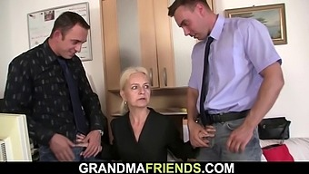Job interview leads to granny double penetration