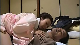 Insatiable Asian housewife sucks and fucks a horny old man'