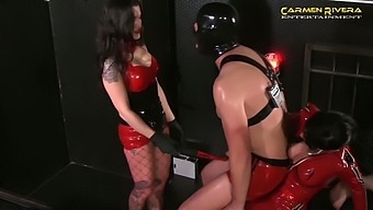 Submissive buddies have to undergo hard things performed by Carmen Rivera