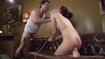 Maci May spreads her legs for a strong pecker while she screams