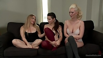 Lesbian threesome with horny Aiden Starr gives the best orgasm ever