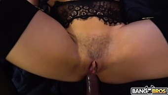 Naughty Abella Danger plays with a buttplug and gets ass fucked