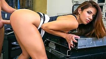 Horny Latina fucked at the office - BangBros
